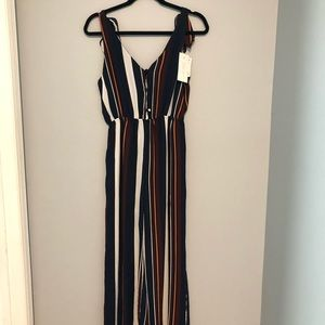 Multicolored Striped Jumpsuit
